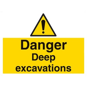 Danger Deep Excavations - Landscape - Large
