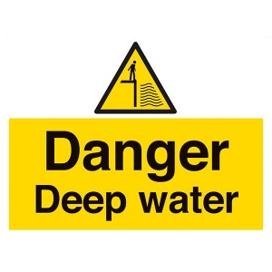 Danger Deep Water - Landscape - Large