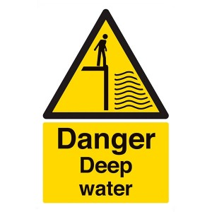 Danger Deep Water - Portrait
