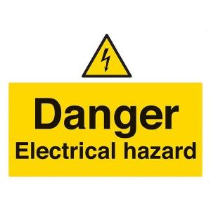 Danger Electrical Hazard - Landscape - Large