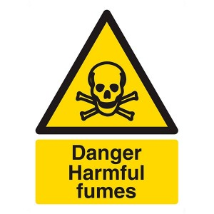 Danger Harmful Fumes - Portrait