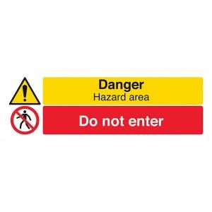 Danger Hazard Area / Do Not Enter - Landscape