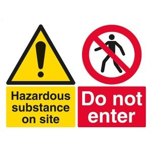 Hazardous Substance On Site / Do Not Enter - Landscape - Large