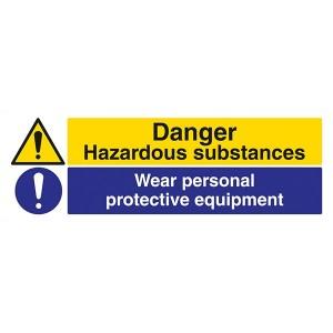 Danger Hazardous Substances / Wear Personal Protective Equipment - Landscape