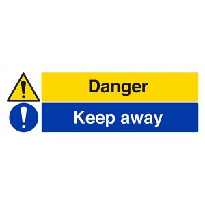 Danger / Keep Away - Landscape