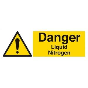 Danger Liquid Nitrogen - Landscape