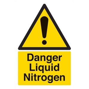 Danger Liquid Nitrogen - Portrait