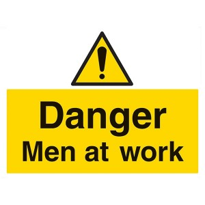 Danger Men At Work - Landscape - Large