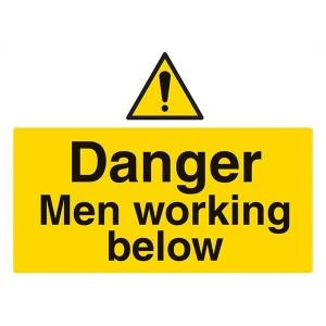 Danger Men Working Below - Landscape - Large