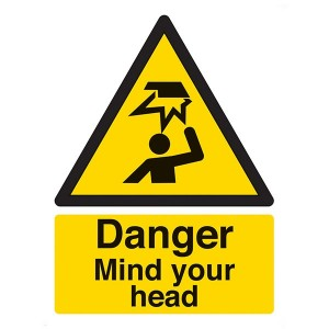 Danger Mind Your Head - Portrait