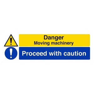 Danger Moving Machinery / Proceed With Caution - Landscape