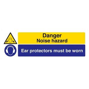 Danger Noise Hazard / Ear Protectors - Landscape