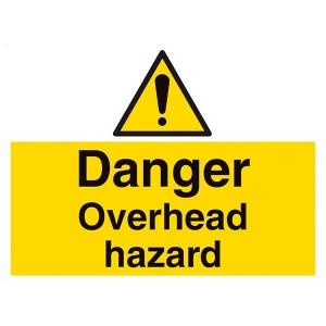 Danger Overhead Hazard - Landscape - Large