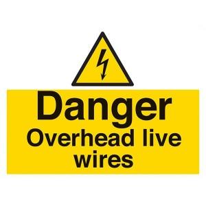 Danger Overhead Live Wires - Landscape - Large