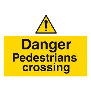 Danger Pedestrians Crossing - Landscape - Large