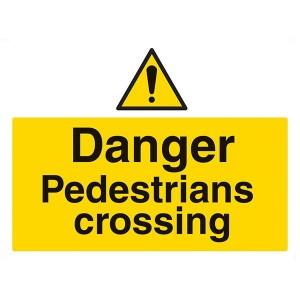 Danger Pedestrians Crossing - Landscape - Large