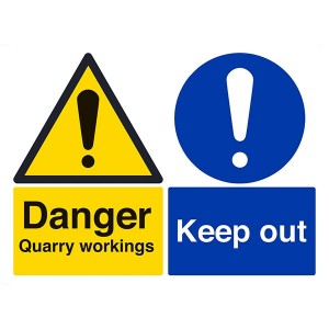 Danger Quarry Workings / Keep Out - Landscape - Large