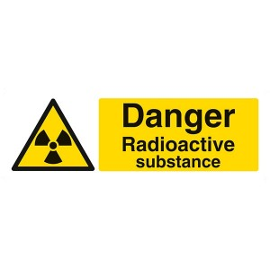 Danger Radioactive Substance - Landscape