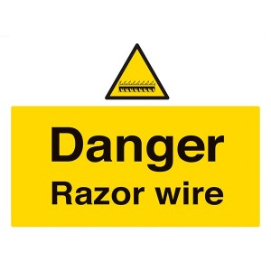 Danger Razor Wire - Landscape - Large