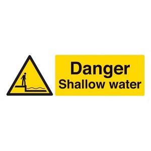 Danger Shallow Water - Landscape - Large