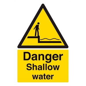Danger Shallow Water - Portrait