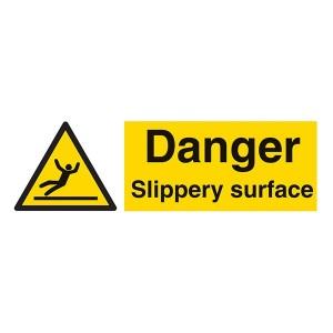Danger Slippery Surface - Landscape