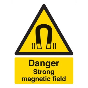 Danger Strong Magnetic Field - Portrait