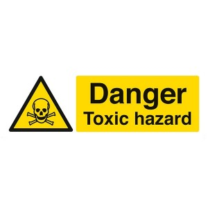 Danger Toxic Hazard - Landscape