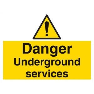 Danger Underground Services - Landscape - Large
