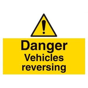 Danger Vehicles Reversing - Landscape - Large