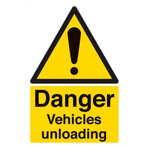Danger Vehicles Unloading - Portrait