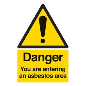 Danger You Are Entering An Asbestos Area - Portrait