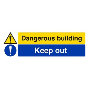 Dangerous Building / Keep Out - Landscape