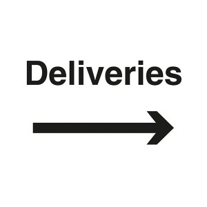 Deliveries With Arrow Right - Landscape - Large