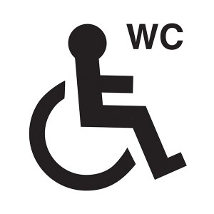 Disabled WC Symbol - Square