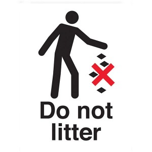 Do Not Litter - White - Portrait