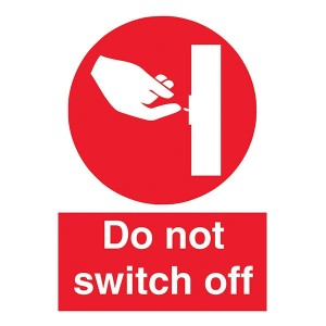 Do Not Switch Off - Portrait