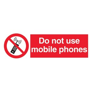 Do Not Use Mobile Phones - Landscape