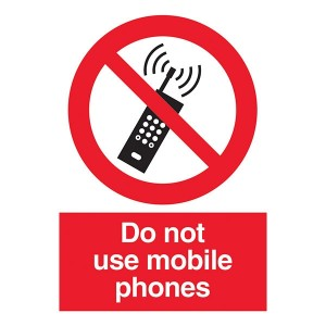 Do Not Use Mobile Phones - Portrait