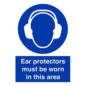 Ear Protectors Must Be Worn In This Area - Portrait