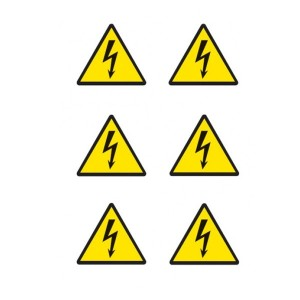 Electrical Hazard Symbol Stickers - Circular