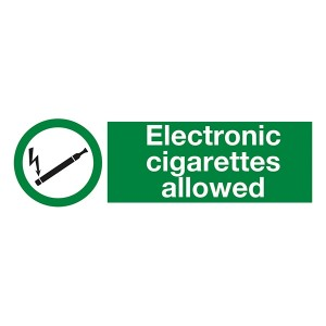 Electronic Cigarettes Allowed - Landscape