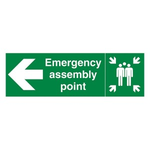 Emergency Assembly Point Family Arrow Left - Landscape