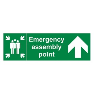 Emergency Assembly Point Family Arrow Up - Landscape