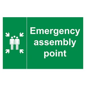 Emergency Assembly Point Family - Landscape - Large
