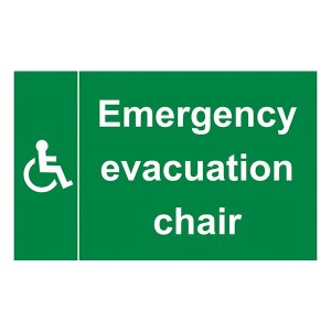 Emergency Evacuation Chair - Landscape - Large