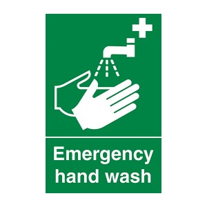 Emergency Hand Wash - Portrait
