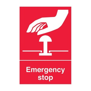Emergency Stop - Red - Portrait