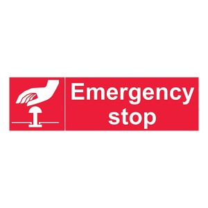 Emergency Stop - Red - Landscape