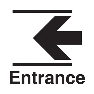 Entrance Arrow Left - Square